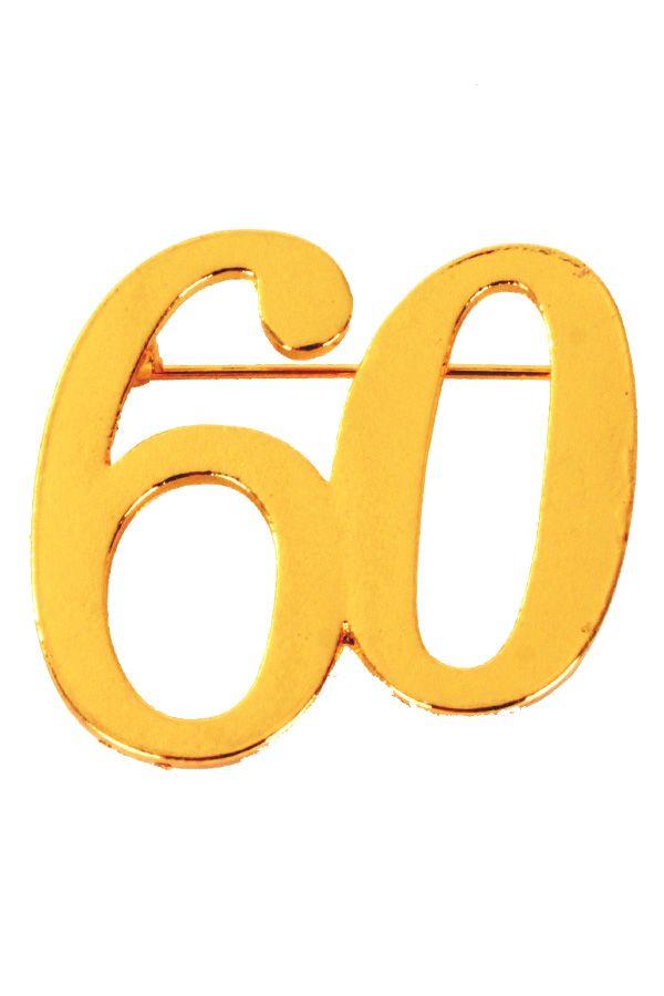 Broche 60 goud