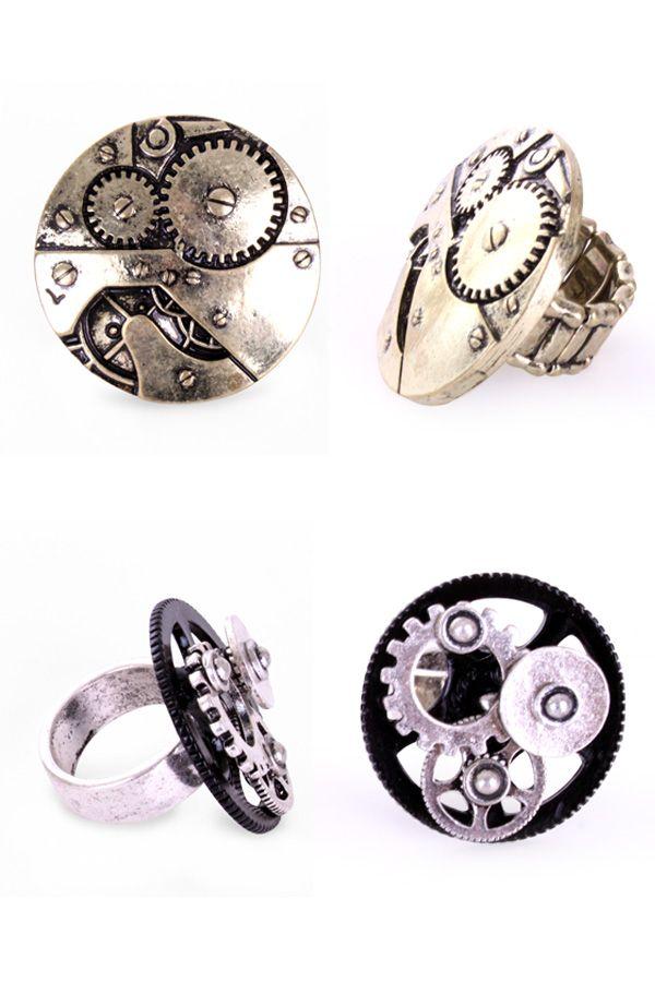 Ring Steampunk per stuk diverse modellen