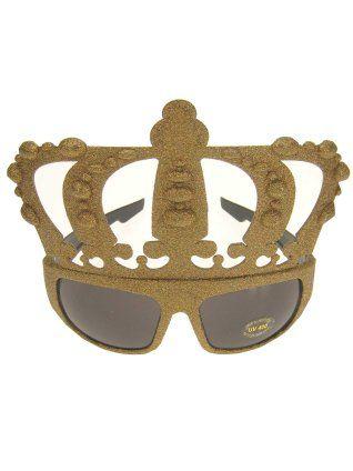 Bril glittergoud kings