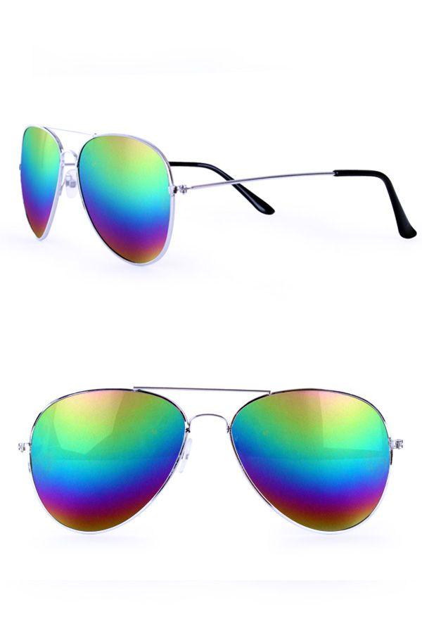 Pilotenbril olie/spiegelglas regenboog