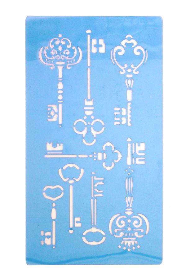 Facepaint sjabloon steampunk sleutels