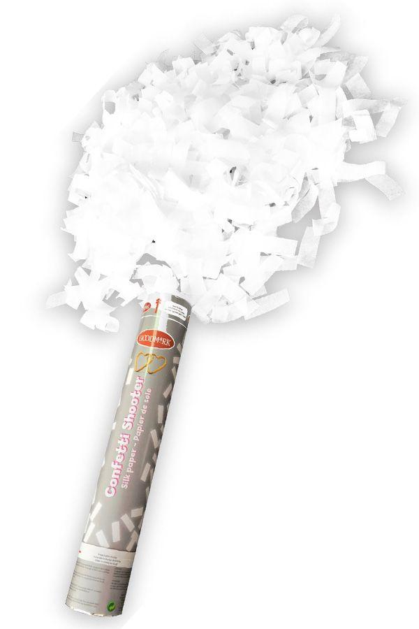Party cannon Wit papier 30 cm