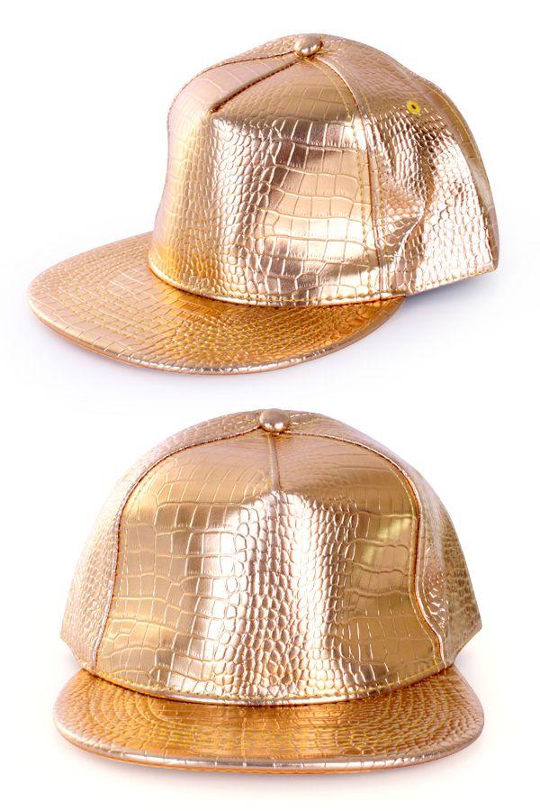 Baseball cap goud rapper