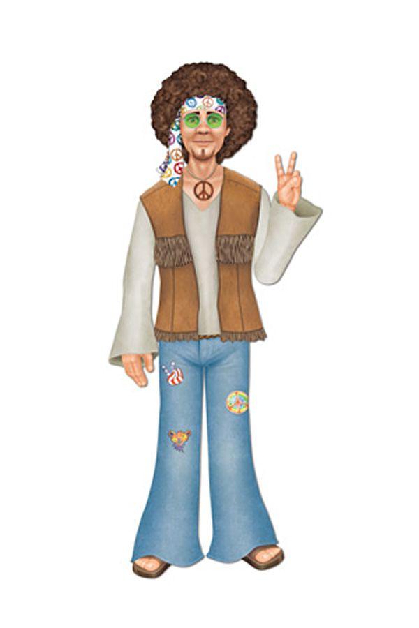 Hippie man Deco karton 94 cm
