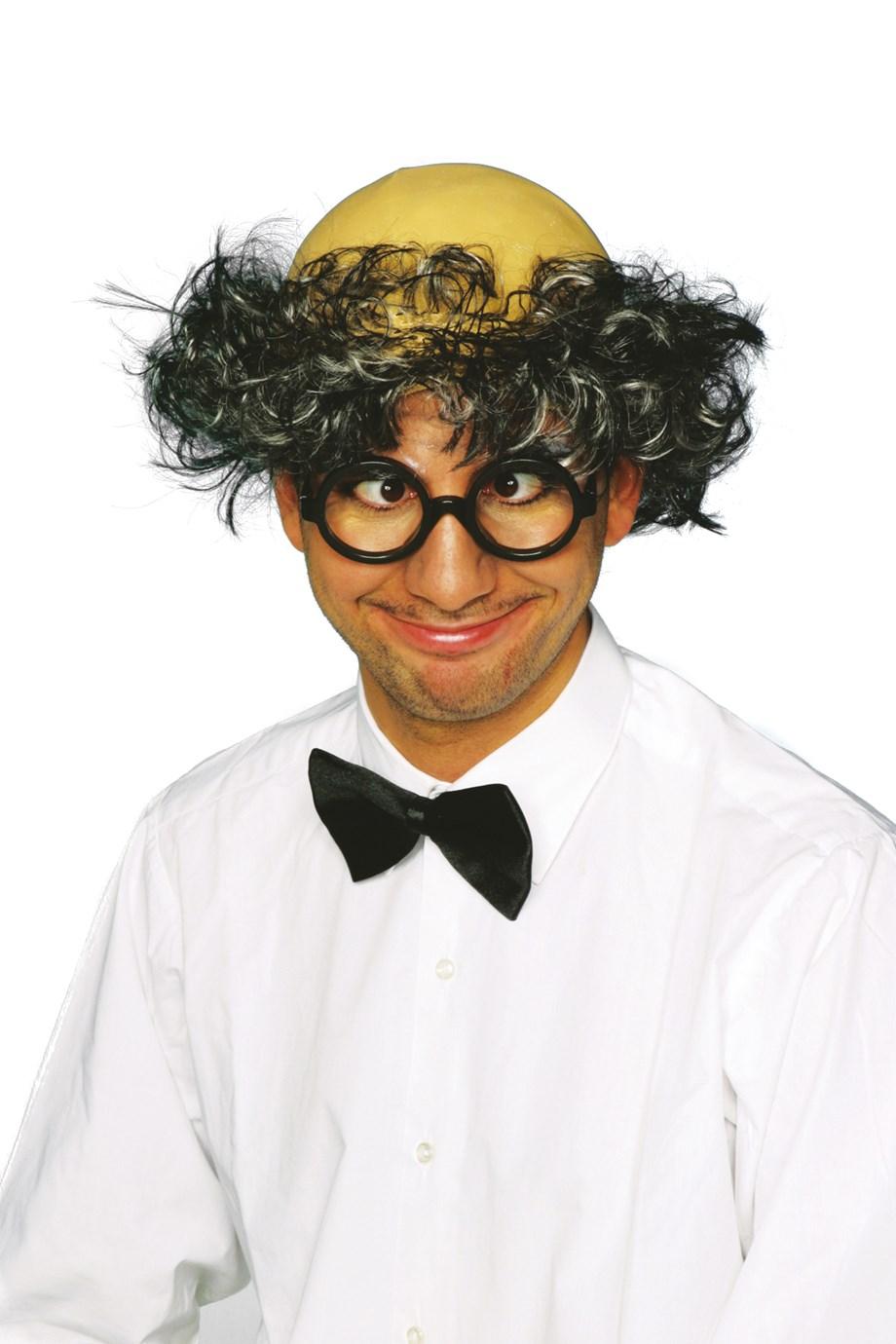 Professor met zwart/grijs haar