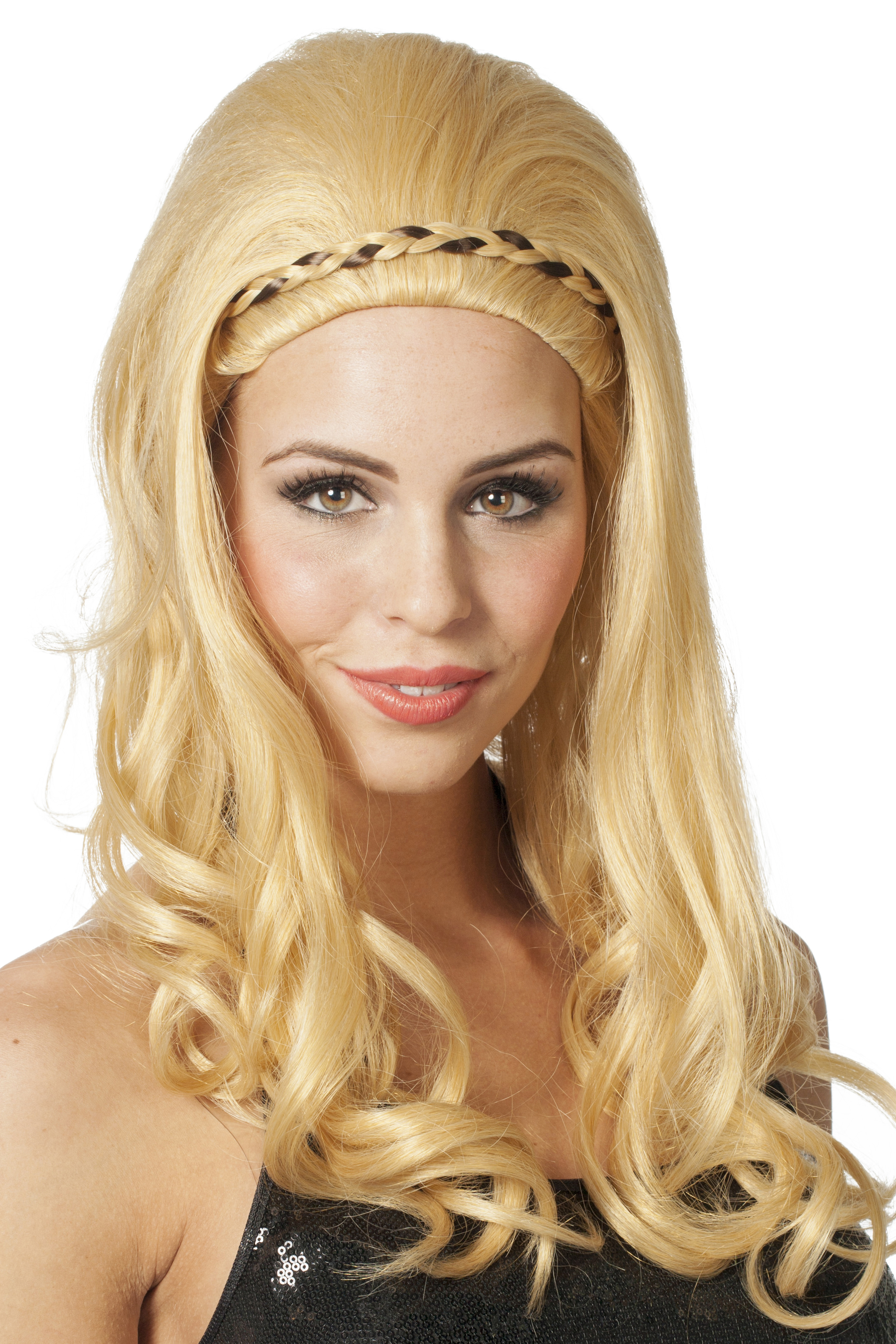 Pruik Afrodite blond