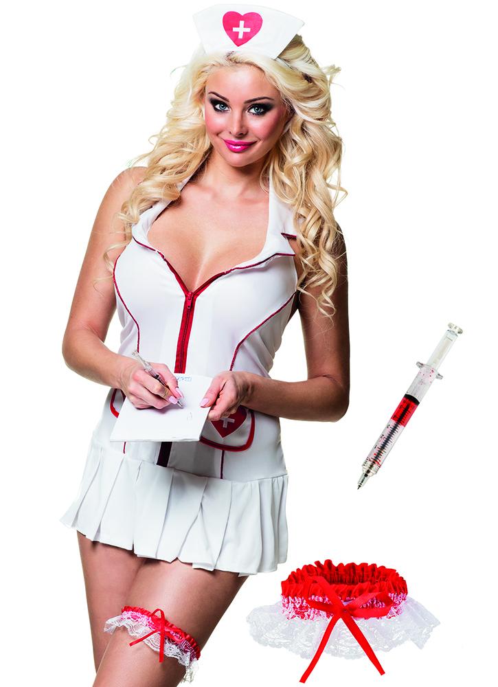 Kouseband Verpleegster met spuitje (13 cm)