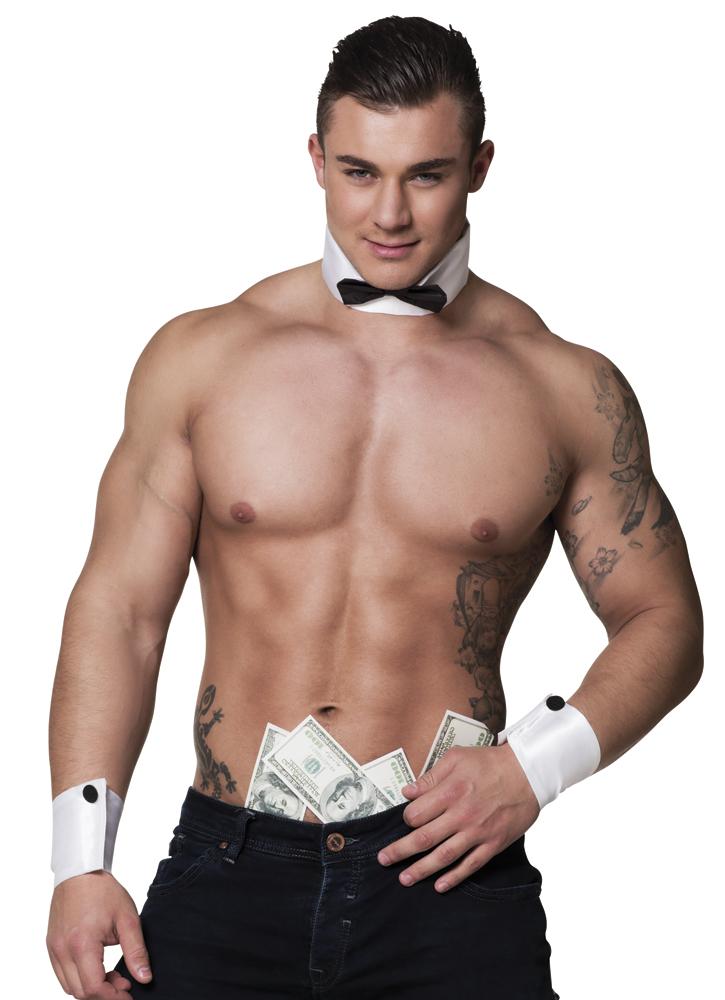 Set Stripper (kraag met vlinderstrik en 2 manchetten)