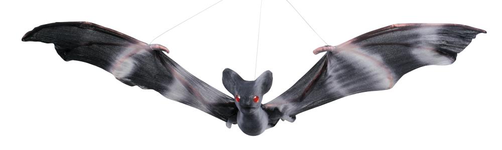 Decoratie Vliegende vleermuis zwart (27 x 52 cm)