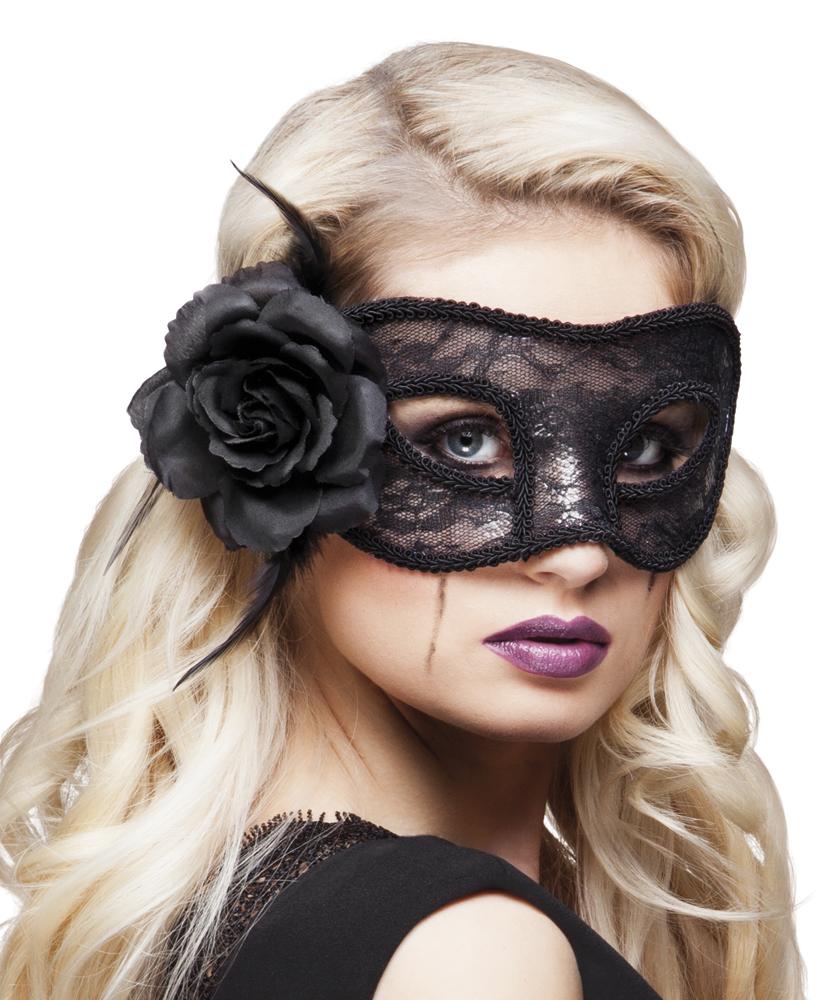 Kanten oogmasker Mystique zwart