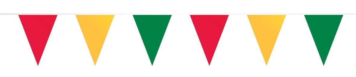 Vlaggenlijn papier rood/geel/groen 10m brandvertragend