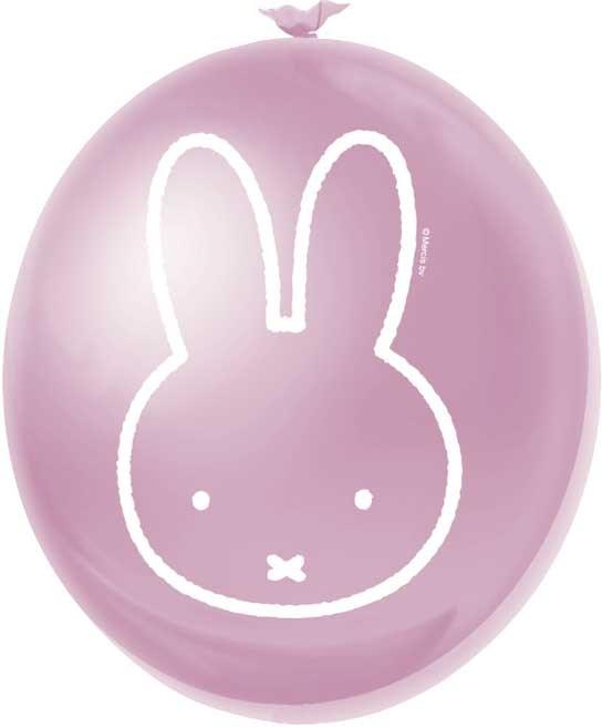 Ballonnen meisje nijntje 6 stuks