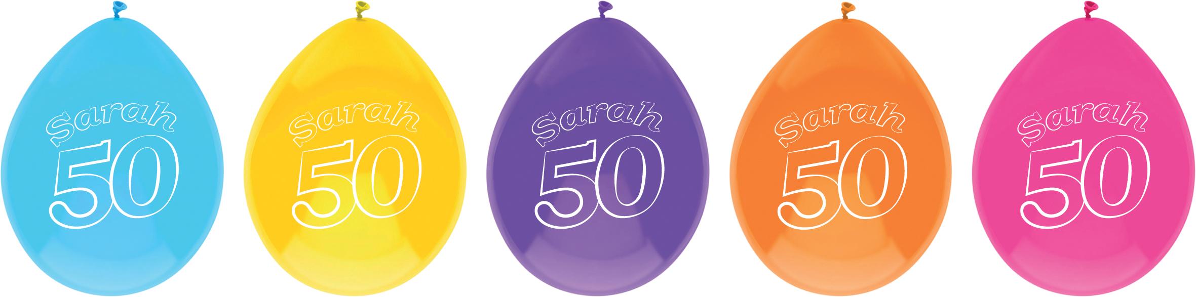 Ballonnen Sarah 10 stuks