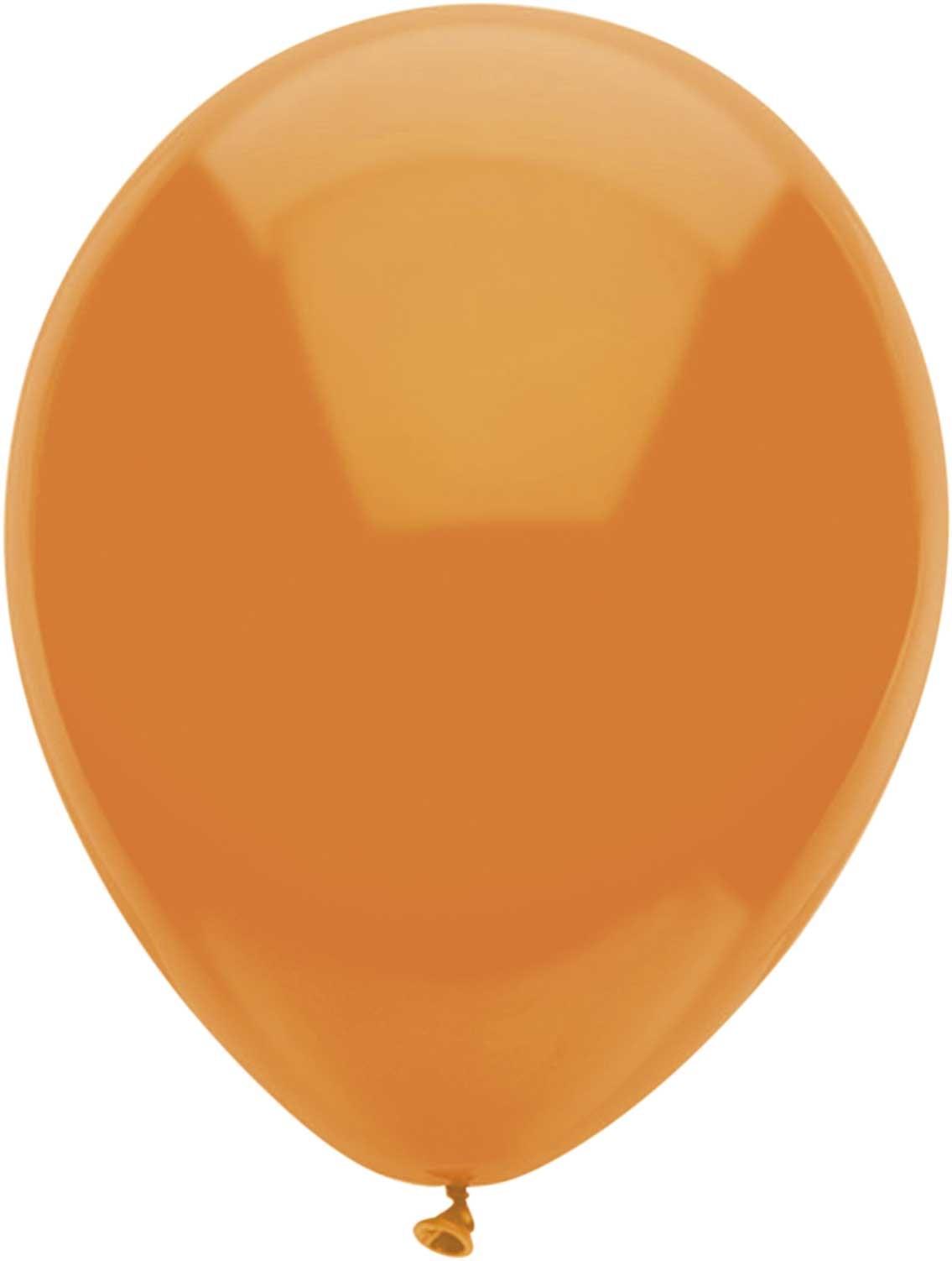 Ballonnen rond oranje 10 stuks