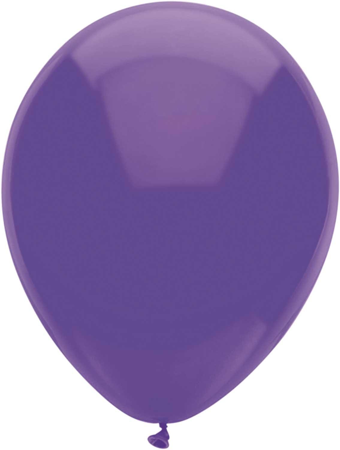 Ballonnen rond paars 10 stuks