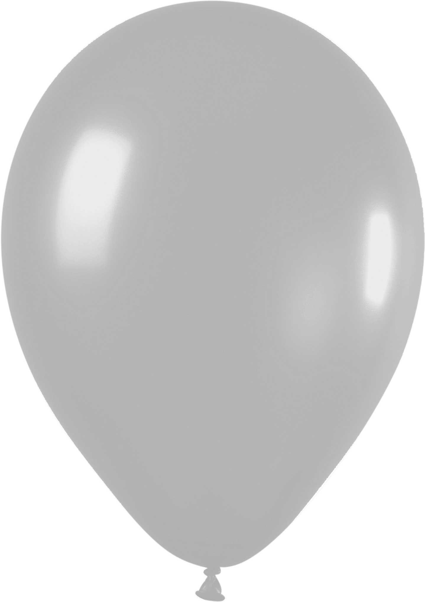 Ballonnen rond zilver 10 stuks