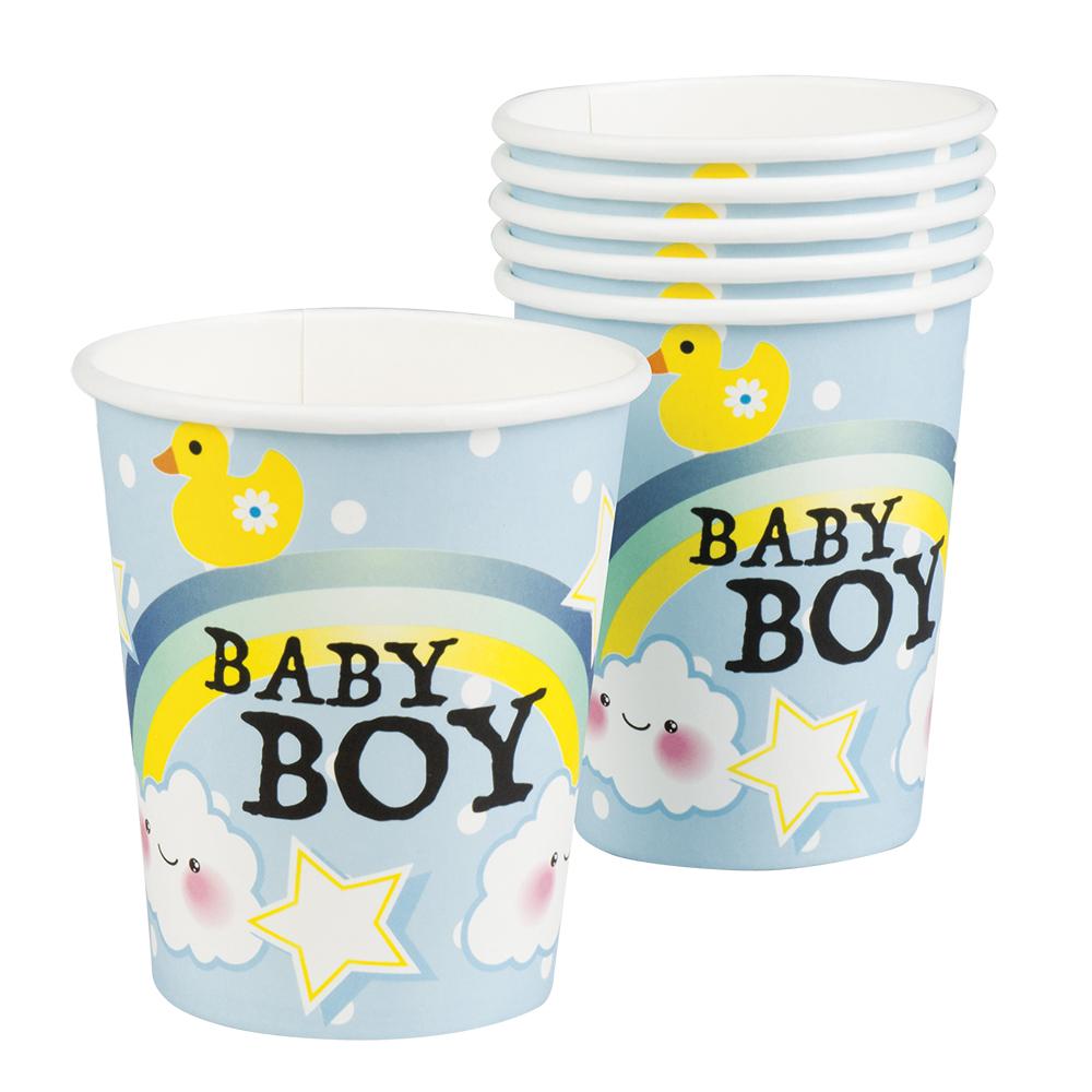 Bekertjes Baby boy (25 cl) set van 6 stuks
