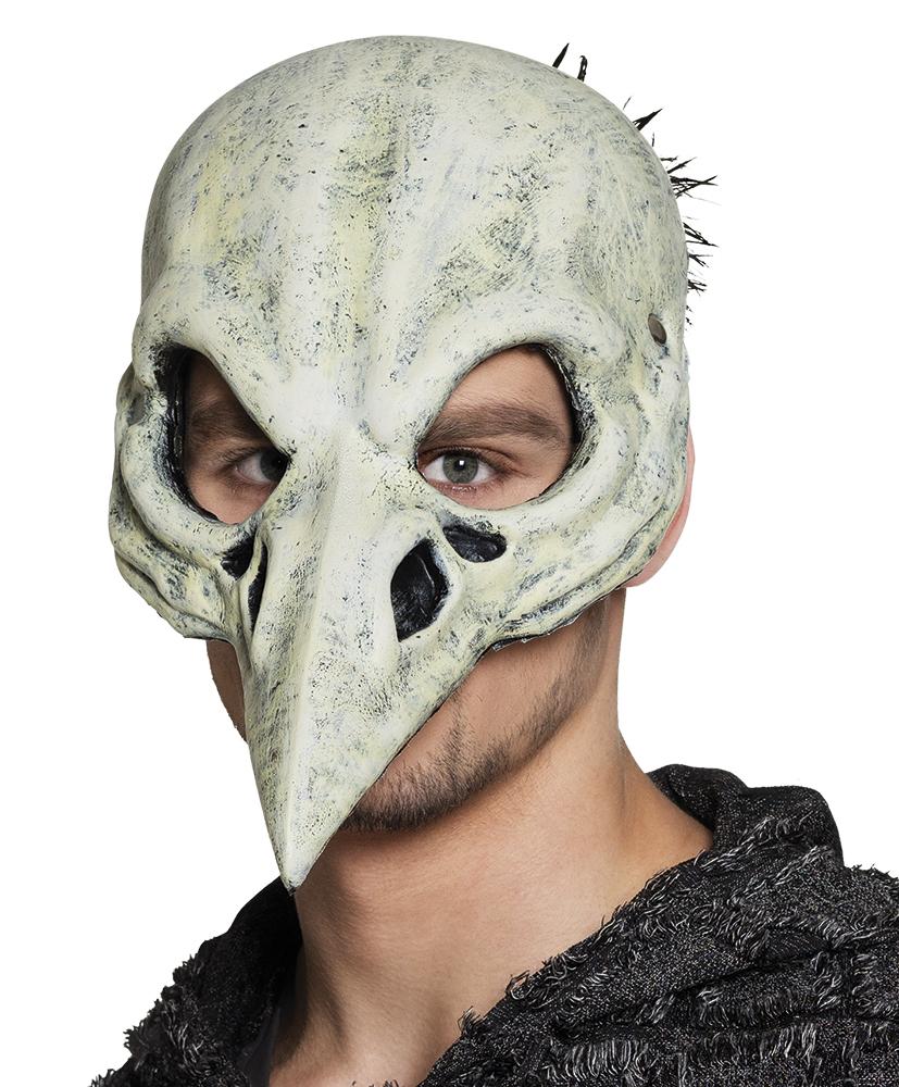 Halfmasker foam Vogel schedel