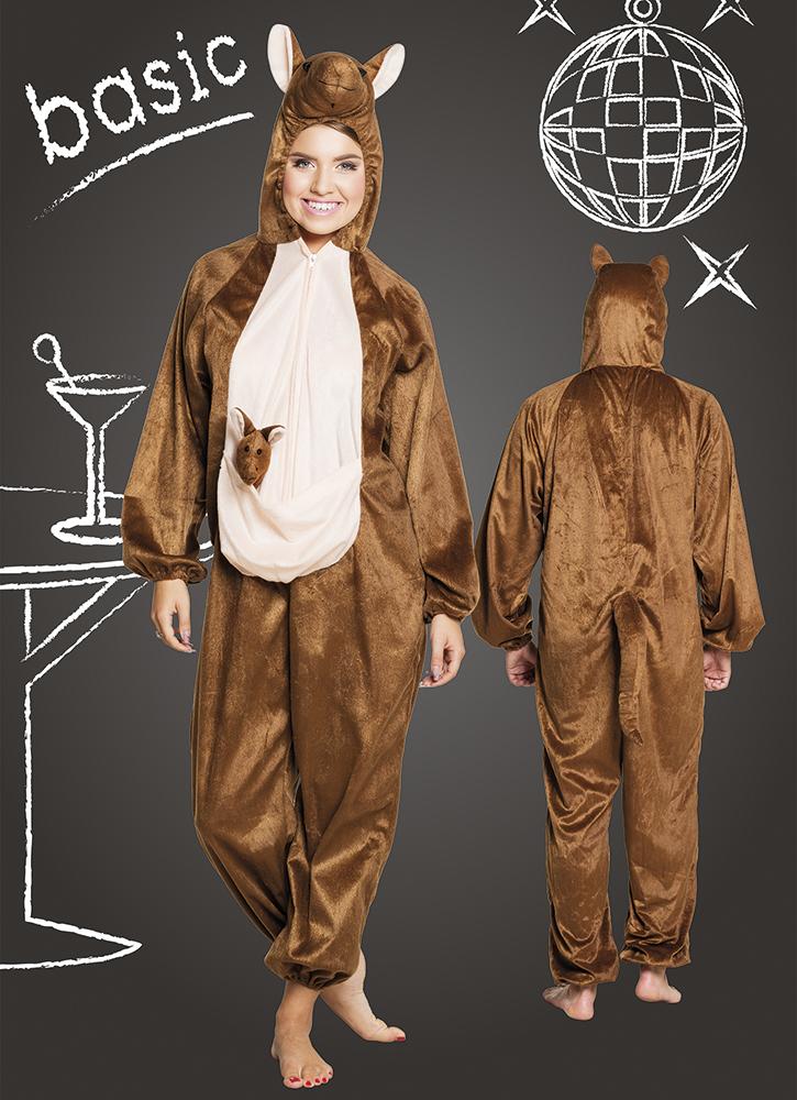 Kangoeroe pluche basic kostuum