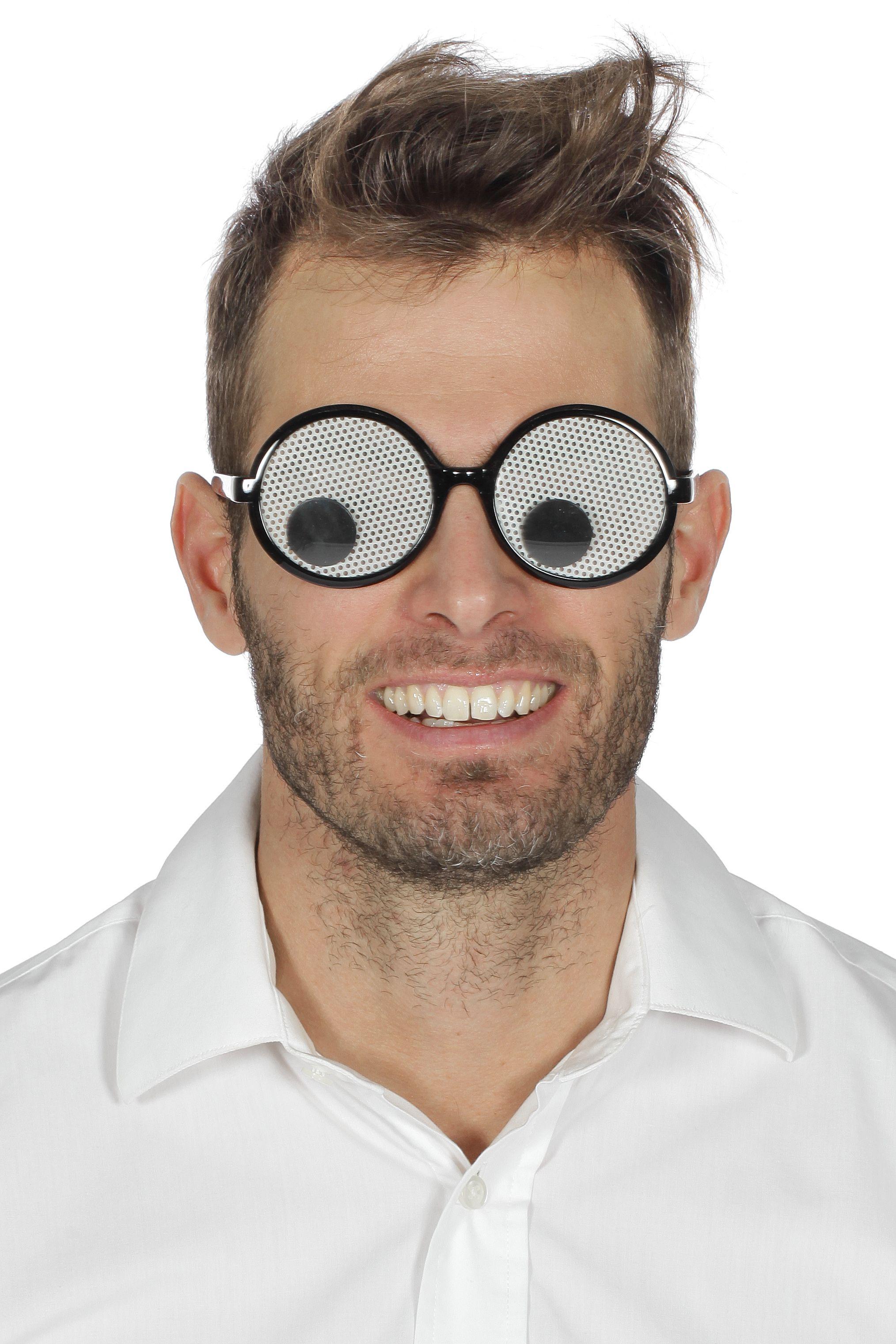 Bril met ogen zwart/wit