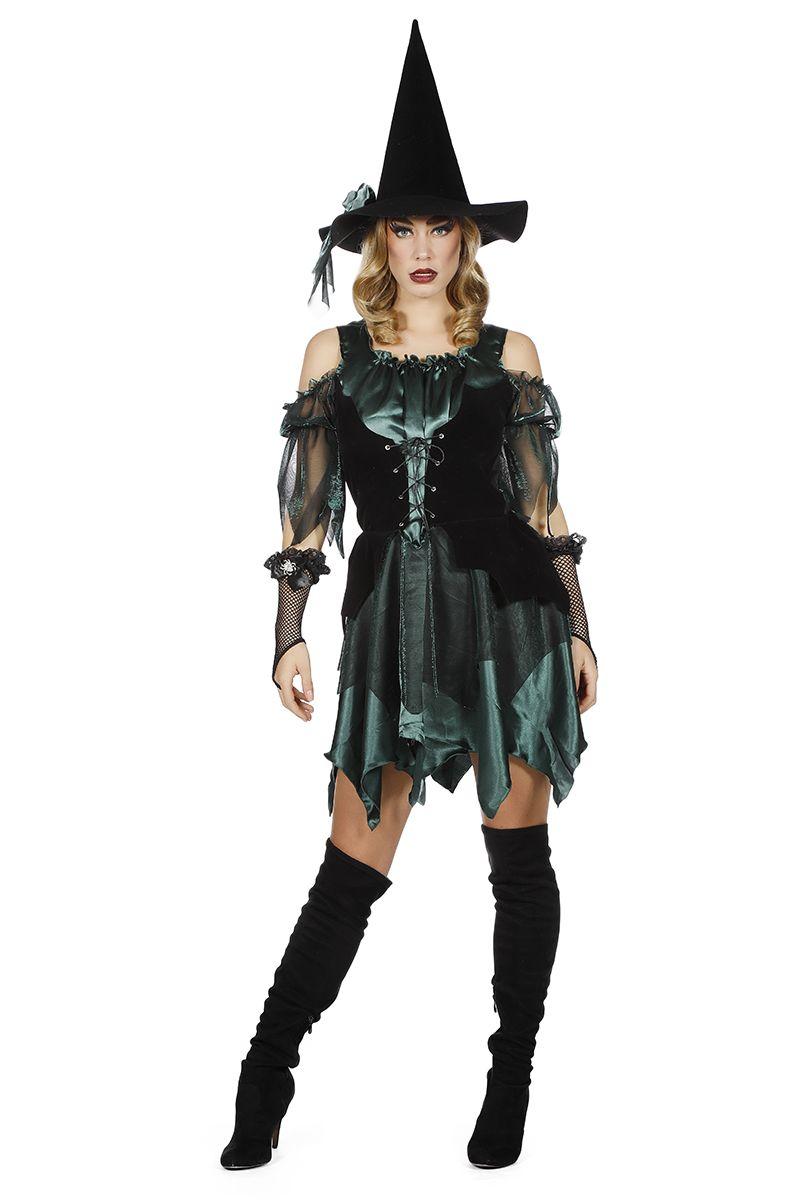 Heksen jurk groen voor dame