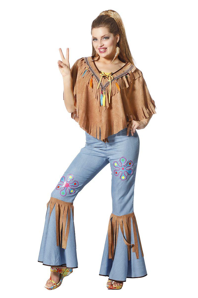 Woodstock broek en poncho voor dame