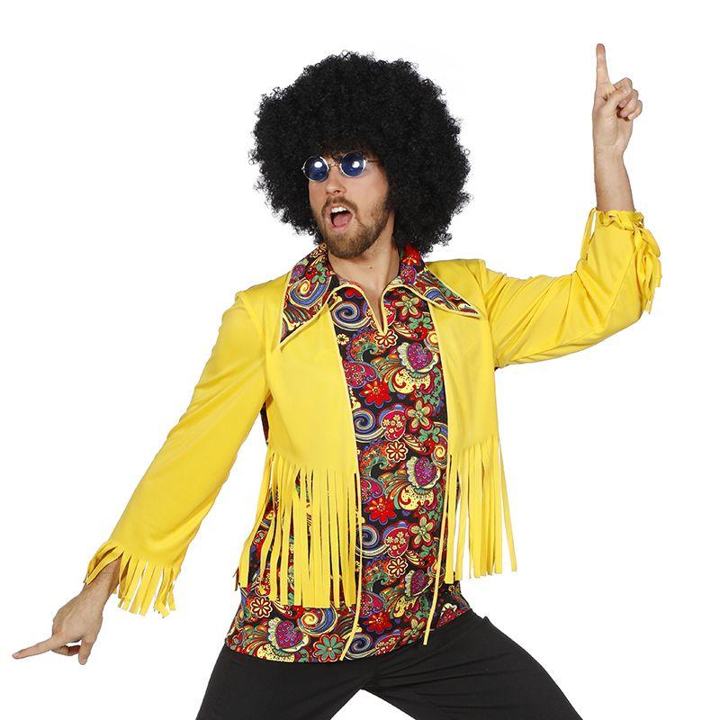 Hippy heren blouse met vest