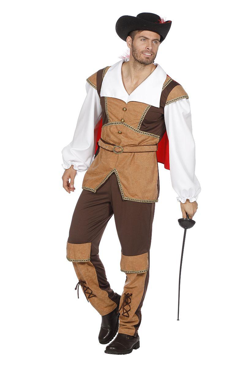 Gelaarsde kat of musketier kostuum voor heer