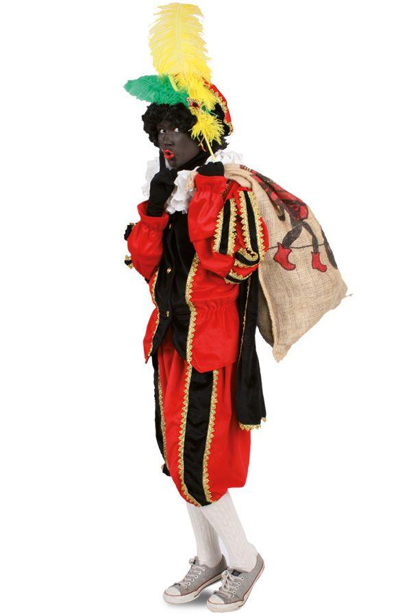Piet pluche zwart/rood voor kids