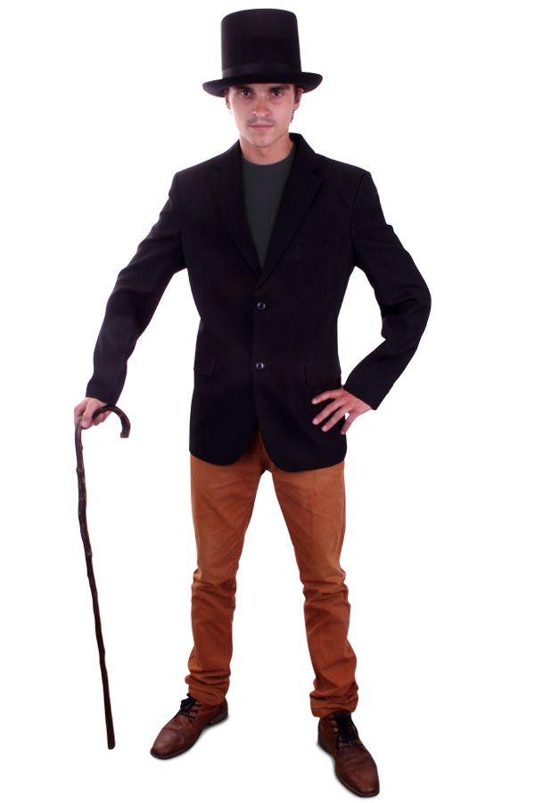 Colbert zwart voor heer