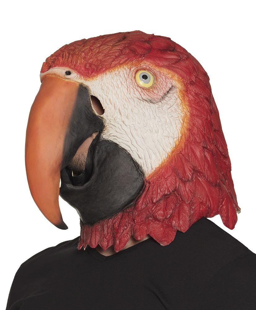 Latex gezichtsmasker Papegaai