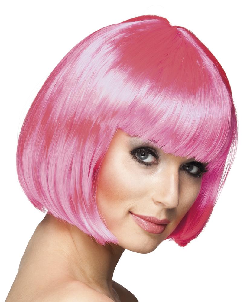 Pruik Cabaret bobline icy pink