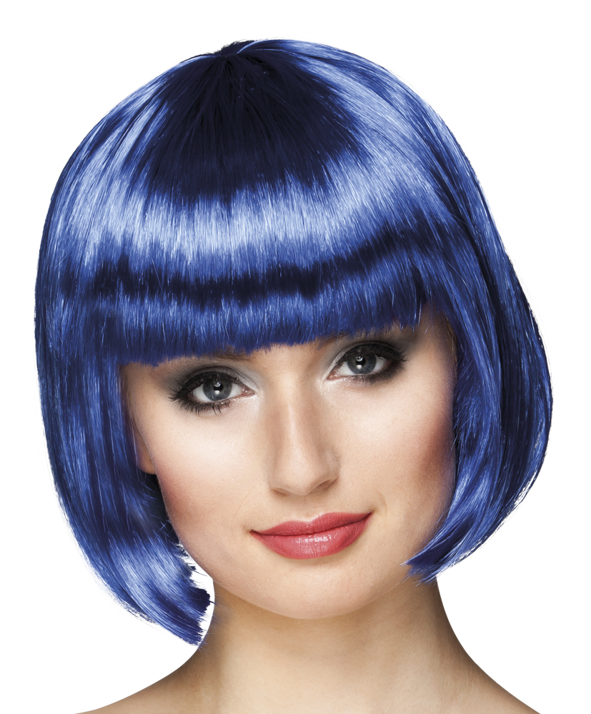 Pruik Cabaret bobline blauw