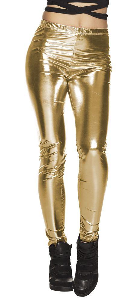 Legging Glance goud stretch one size (M)