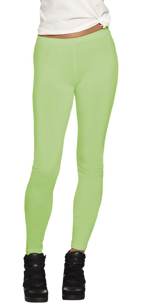Legging Opaque neon groen stretch one size (M)