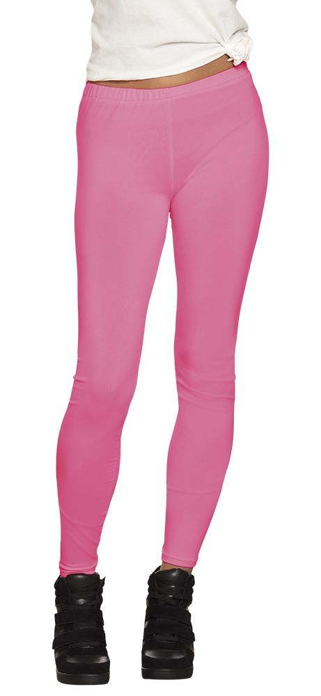 Legging Opaque neon roze stretch one size (M)
