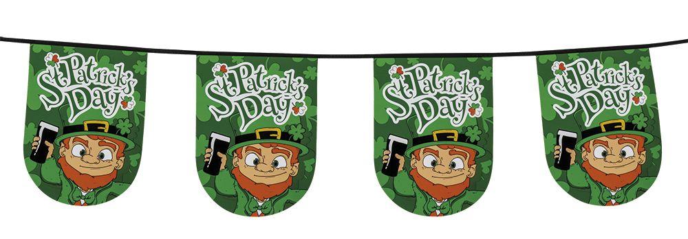 Vlaggenlijn St Patrick's Day (6m) plastic