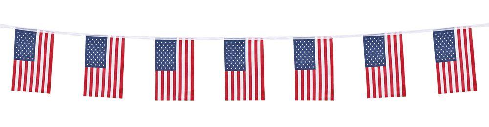 Polyester vlaggenlijn USA (4m)