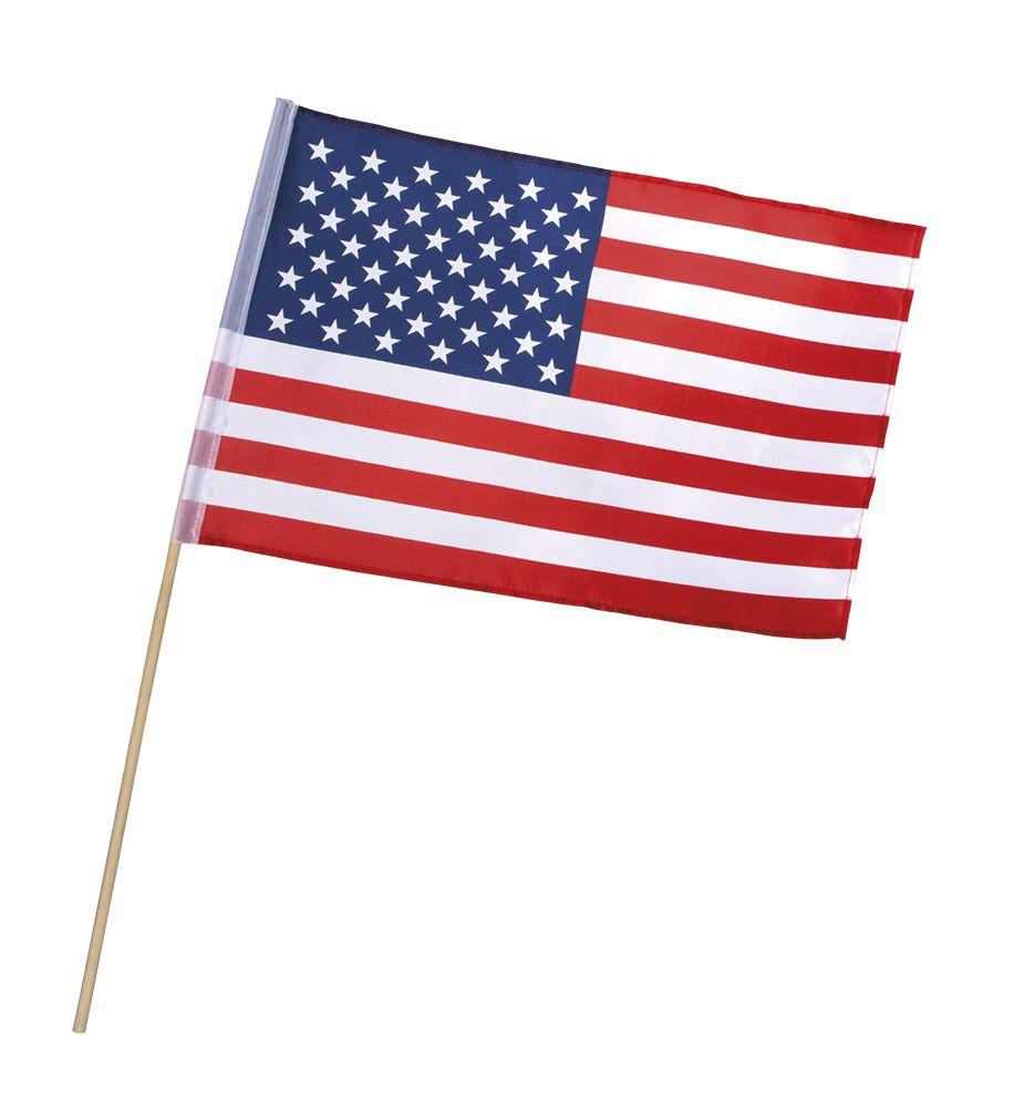 Polyester zwaaivlag USA (30 x 45cm / 60cm stok)