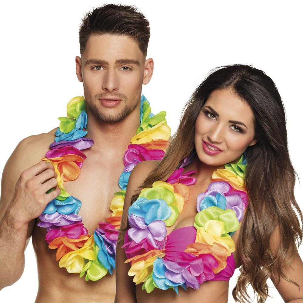 Hawaïkrans Rainbow de luxe XL
