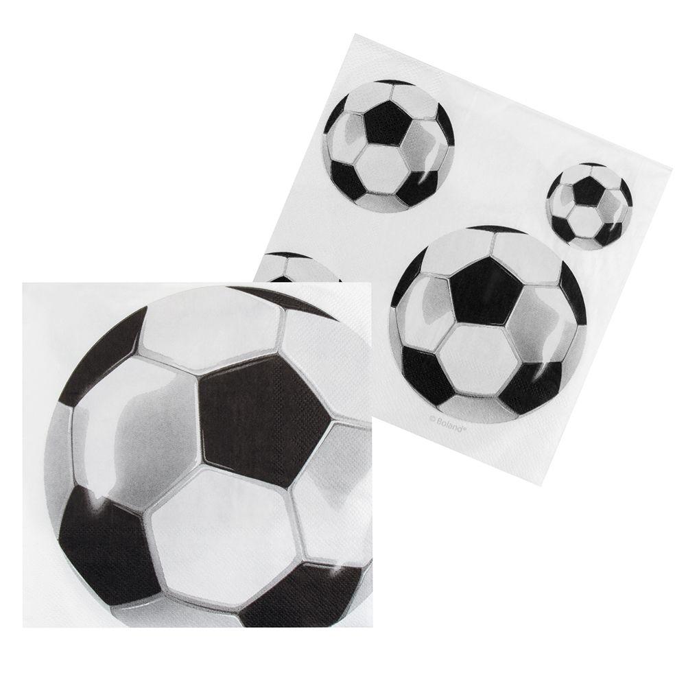 Servetten Football (33 x 33cm) set van 12 stuks