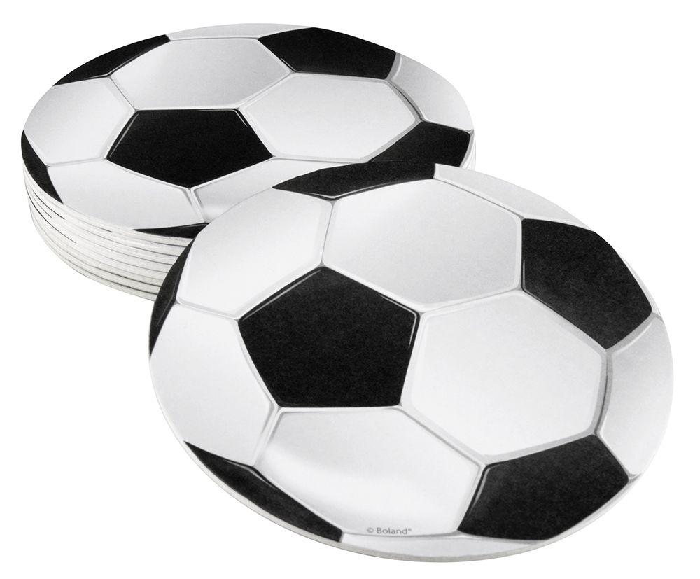 Viltjes Football (10cm) set van 6 stuks