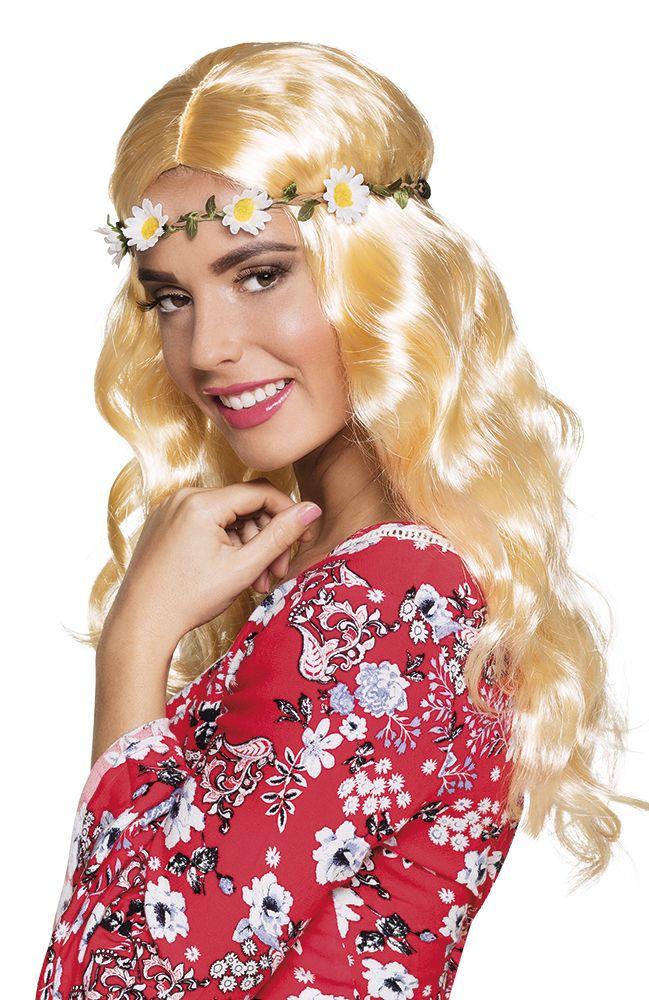 Pruik Joy blond met hoofdband