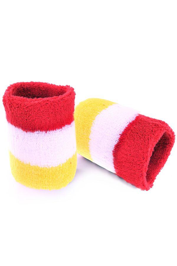 Polsbandjes rood/wit/geel
