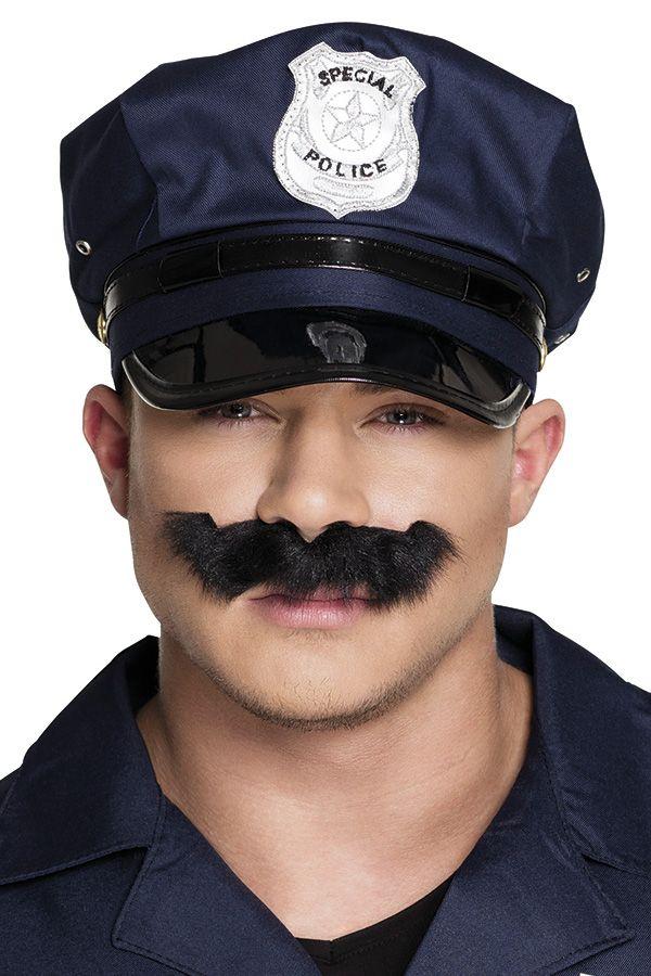 Snor zwart Police