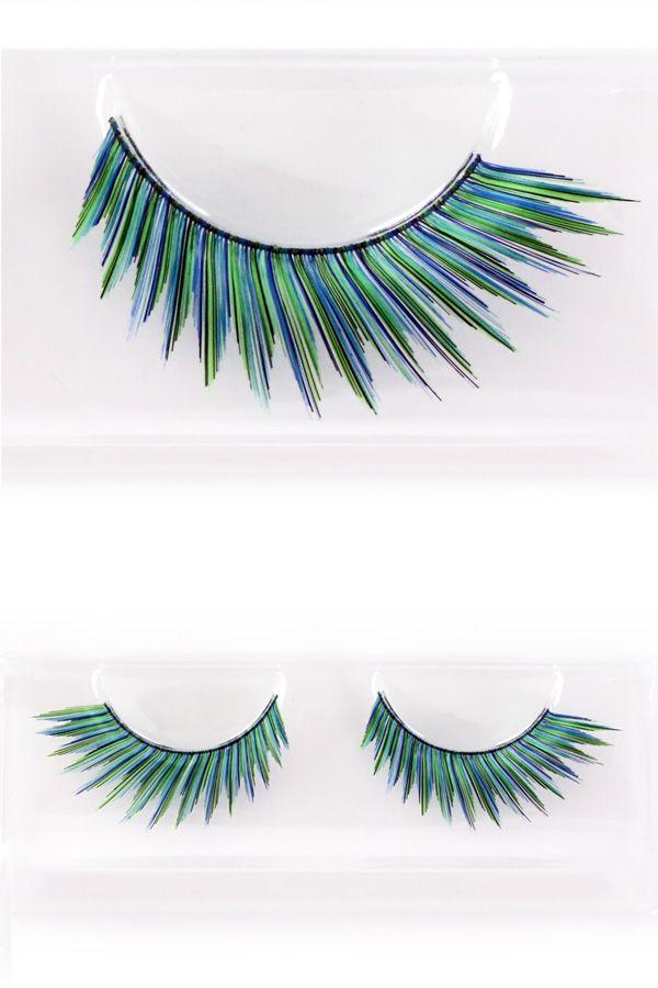 Wimpers pauw groen/blauw