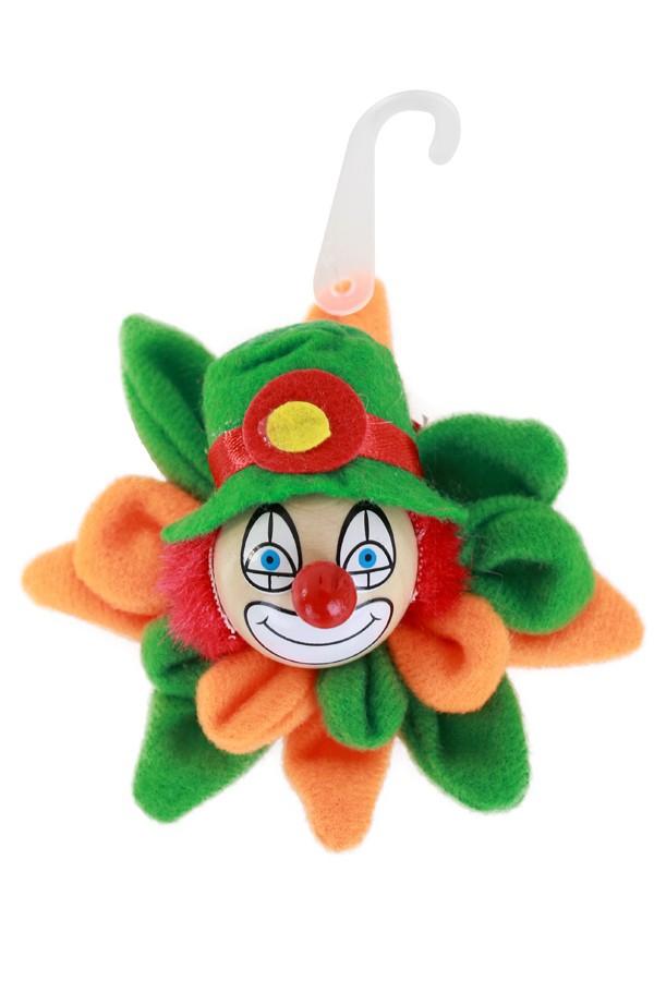 Broche nar op bloem oranje/groen