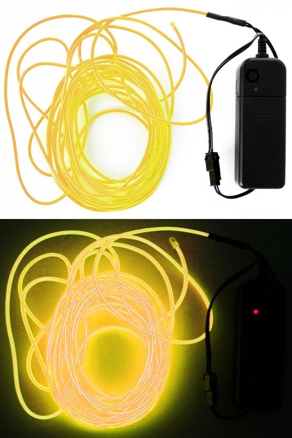5 mtr ledsnoer verlichting neon geel