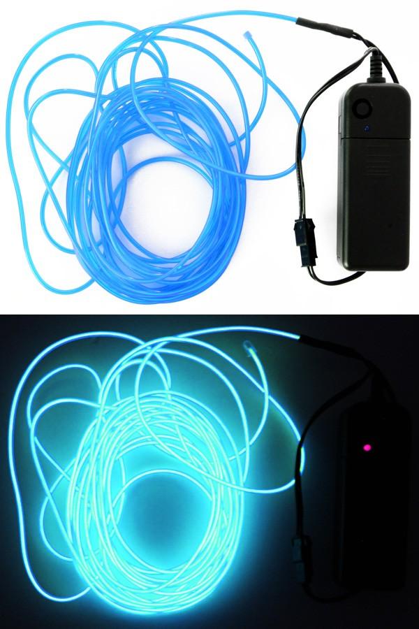 5 mtr ledsnoer verlichting licht blauw