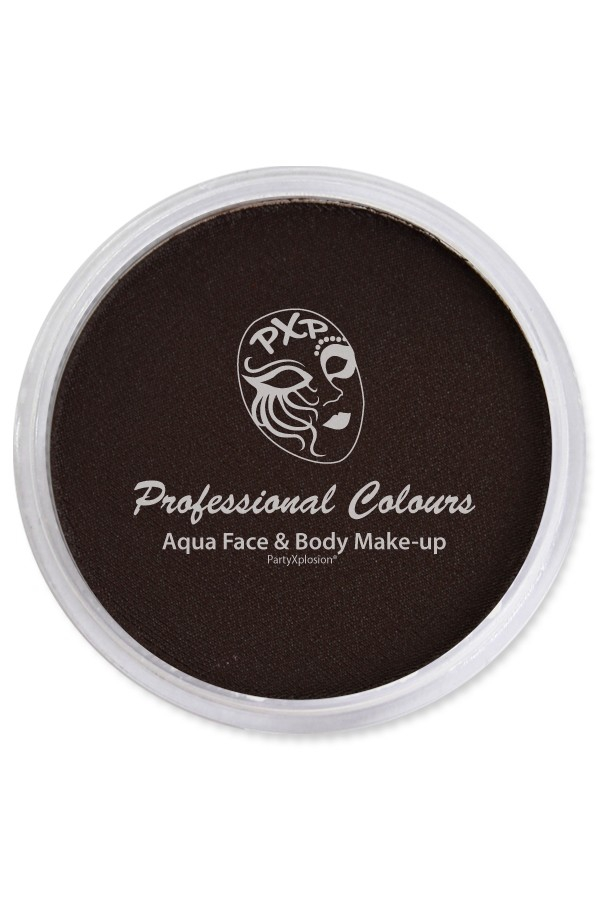 PXP Aqua schmink face&body paint dark brown 10 gram